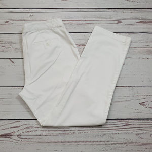 Brooks Brothers 346 Milano Fit Pants Size 10 White